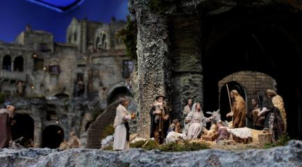 A newborn baby has been left in a Christmas nativity manger at a New York church