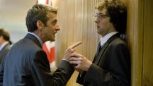 Peter Capaldi and Chris Addison starred together in The Thick Of it and In The Loop (BBC)