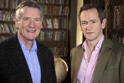 Alexander Armstrong with Michael Palin for The Real Ripping Yarns
