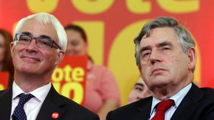 Alistair Darling and Gordon Brown - two of the departing MPs