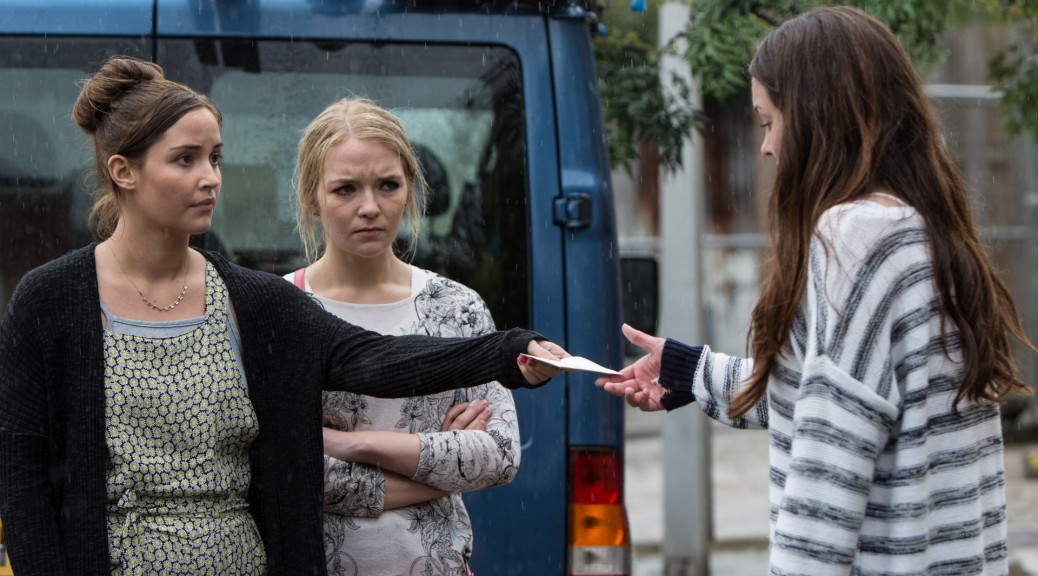 eastenders lauren and abi branning ask stacey fowler for