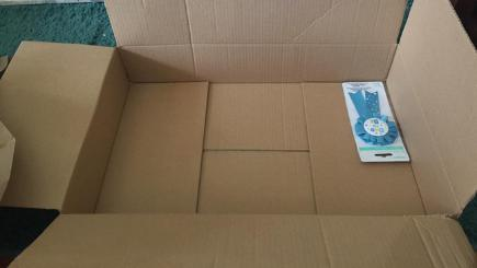 Excess packaging: Amazon delivers a small rosette in a huge box