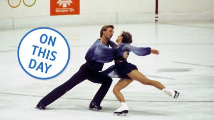 Great Britain's Jayne Torvill and Christopher Dean performing their Bolero routine