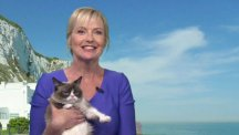Grumpy Cat and Carol Kirkwood