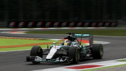 Lewis Hamilton taking pole position in qualifying for the Italian Grand Prix
