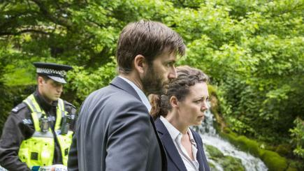 Hardy and Miller in Broadchurch