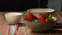 How to destalk strawberries using a drinking straw