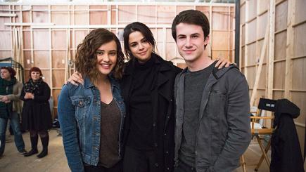Katherine Langford, Selena Gomez and Dylan Minnette