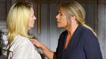 Kathy Beale clashes with Sharon Mitchell in explosive EastEnders return