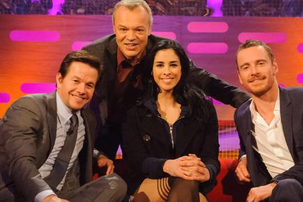 Mark Wahlberg, Sarah Silverman and Michael Fassbender appear on The Graham Norton Show