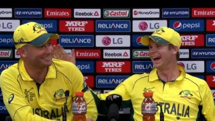 Michael Clarke and Steve Smith