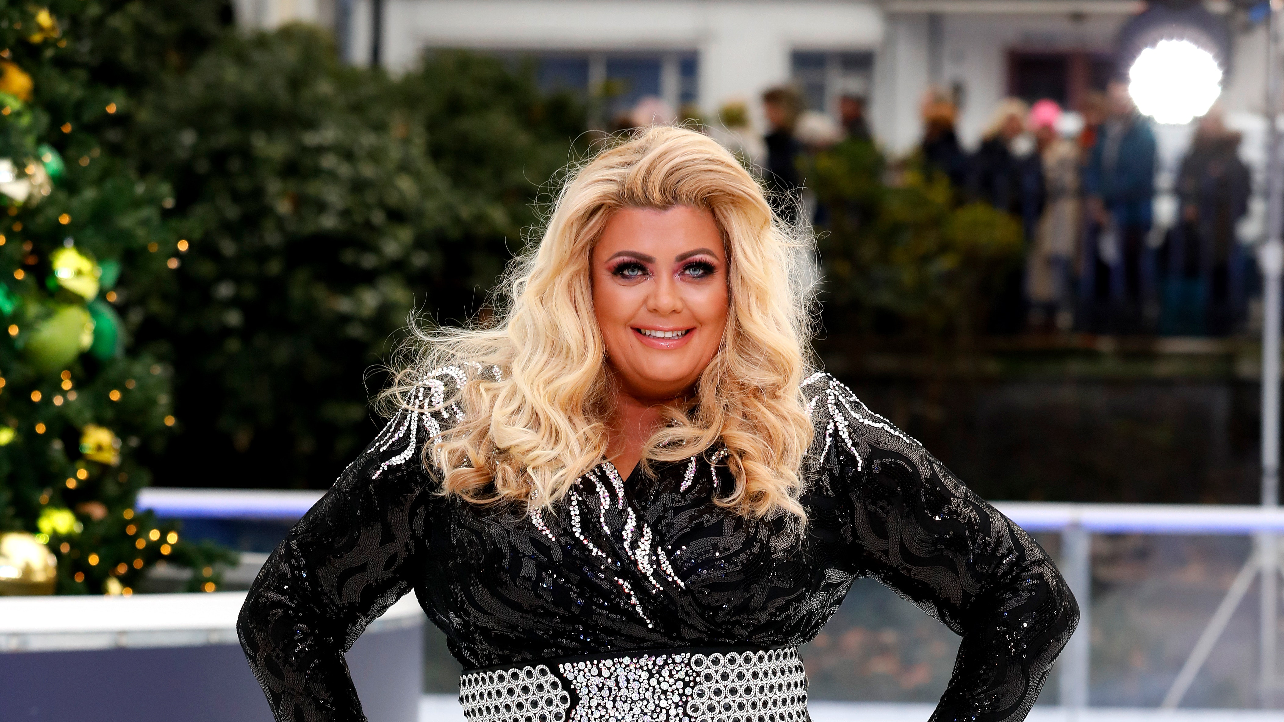 Crying on Ice. Gemma Collins in tears after that fall