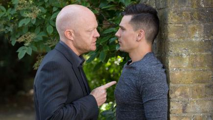 New EastEnders pictures show Steven Beale and Max Branning storyline hotting up