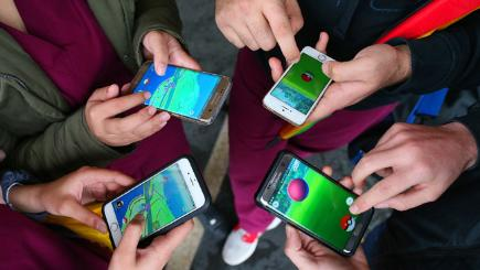 Pokemon Go on phone
