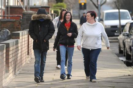 Residents of James Turner Street, as featured in Benefits Street