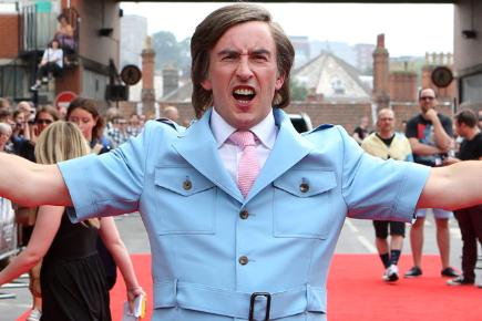 Steve Coogan as Alan Partridge at the premiere of Alpha Papa in Norwich