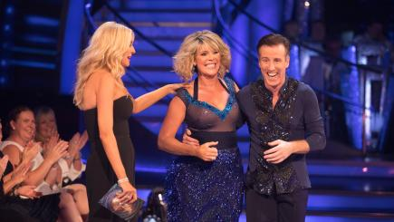 Strictly star Ruth Langsford makes baby elephant joke about her launch show leap