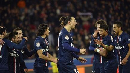 Zlatan Ibrahimovic and PSG celebrate