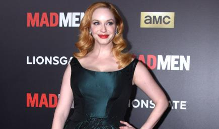 Christina Hendricks on the Mad Men red carpet