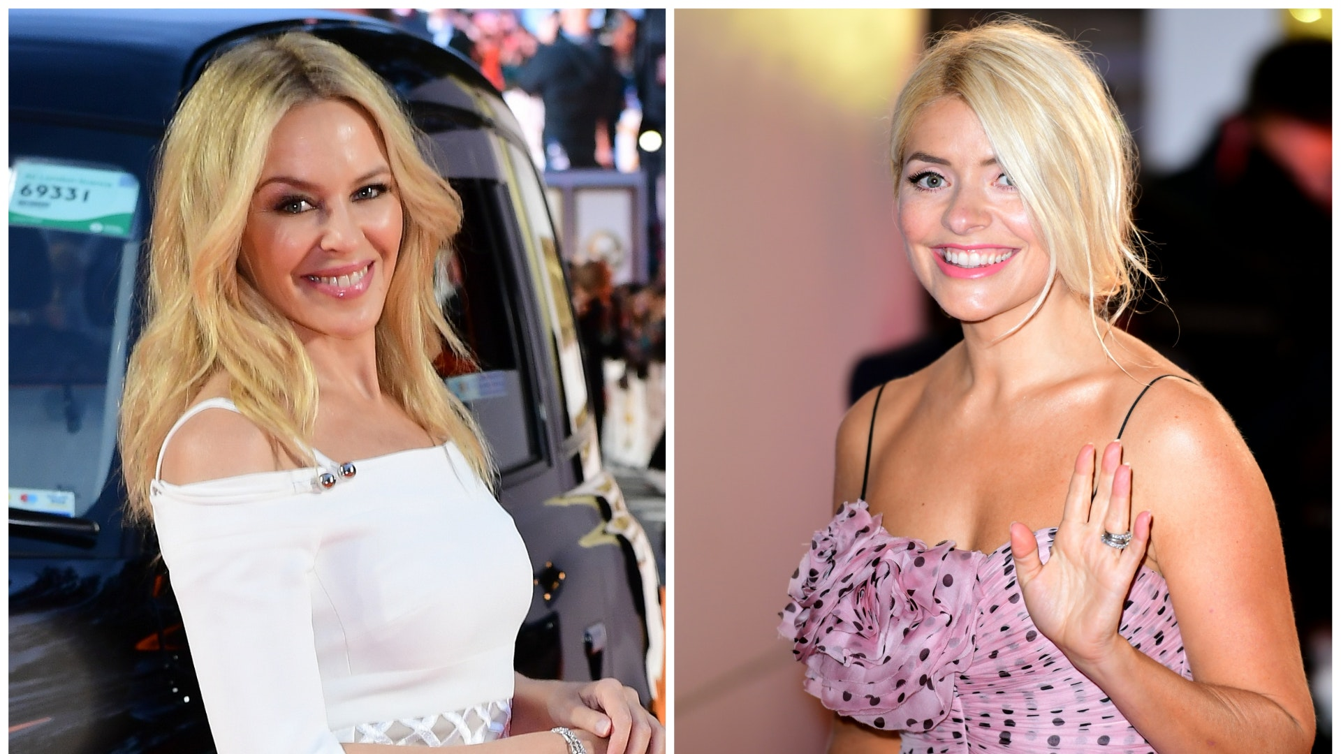 Holly Willoughby and Kylie Minogue join stars marking Valentine's