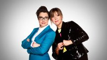Sue Perkins and Mel Giedroyc.  Photo credit: BBC