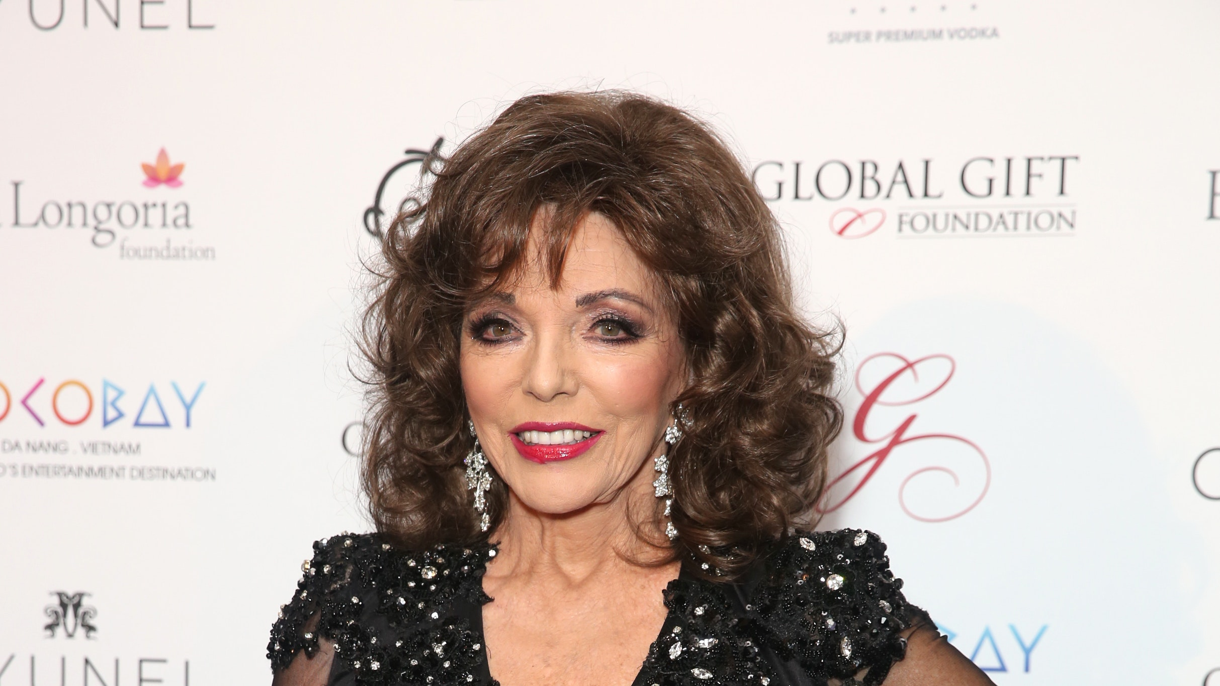 Joan Collins fire
