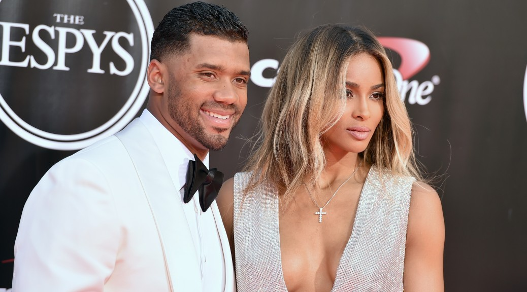 709094db71dfe Newlywed Ciara shows off her HUGE wedding ring on the ESPYs red ...
